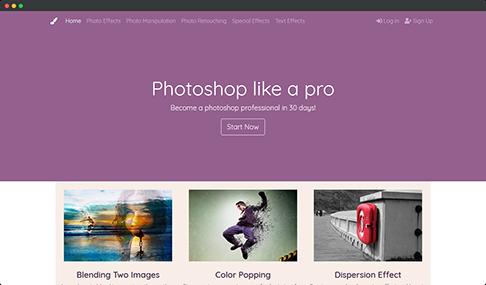 Photoshop tutorials WordPress Theme